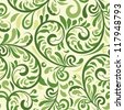 vector seamless  floral pattern,  fully editable eps 8 file, seamless pattern in swatch menu - stock vector