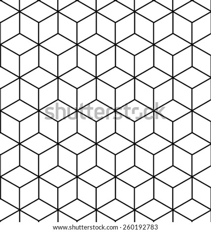 VECTOR SEAMLESS GEOMETRIC PATTERN / BACKGROUND DESIGN. MODERN STYLISH TEXTURE. Repeating and editable tiles with rhombuses. Can be used for prints, textiles, website blogs etc.  - stock vector