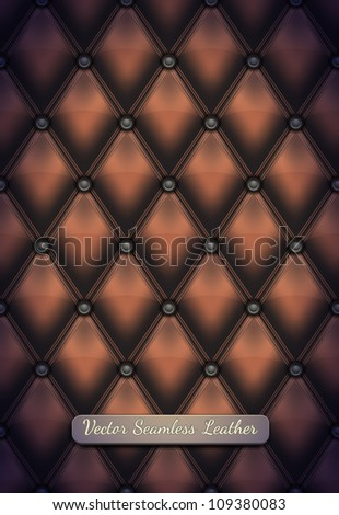 Vector seamless leather upholstery - stock vector
