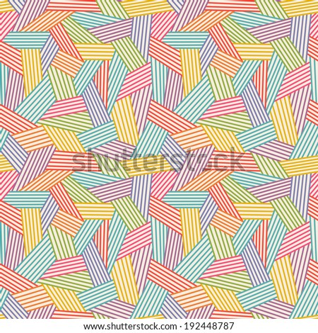 Vector seamless linear pattern. Color illustration with hand drawn graphic. Abstract background for print, web  - stock vector