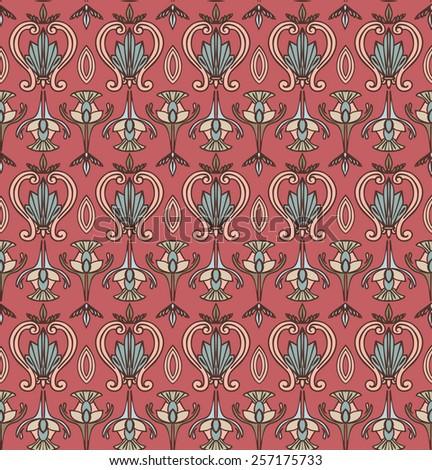 Vector Seamless Modern Pattern. Vintage wallpaper - stock vector