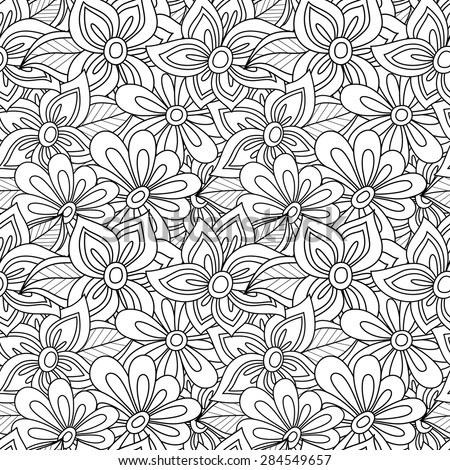 flower coloring pattern - photo #49