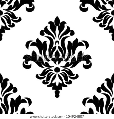 Vector Seamless Ornament Pattern. Swatch included. Easy to edit. - stock vector