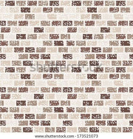 Vector seamless patter. Stylish bricks with vintage effect - stock vector