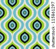 Vector seamless pattern - abstract background in blue and green - stock vector