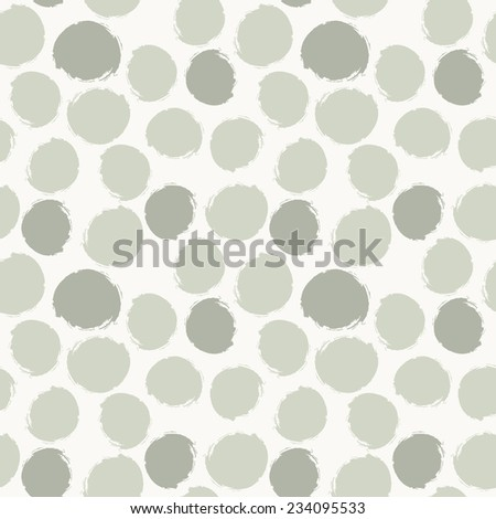 Vector seamless pattern. Abstract background with round brush strokes. Simple hand drawn texture with pastel circles - stock vector
