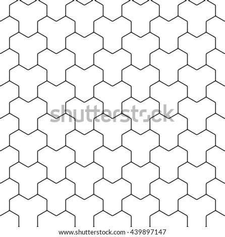 Vector seamless pattern. Abstract geometric texture with structure of repeating hexagonal elements. - stock vector