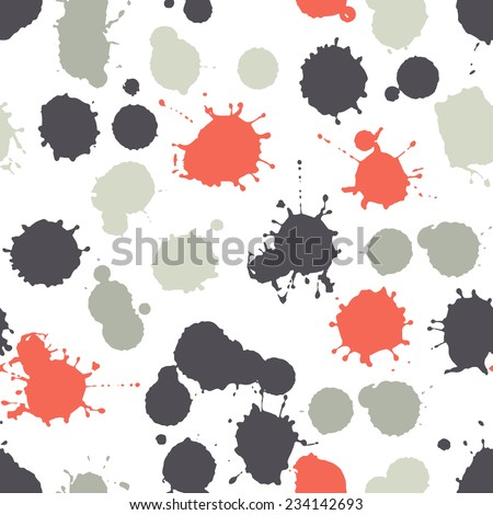 Vector seamless pattern. Abstract grunge texture with colorful blots. Creative background with blots - stock vector