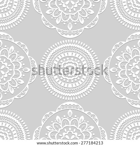 Vector seamless pattern. Classic background. Vector illustration - stock vector