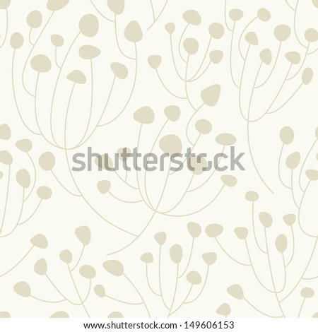 Vector seamless pattern. Floral stylish background. Stylish soft texture - stock vector