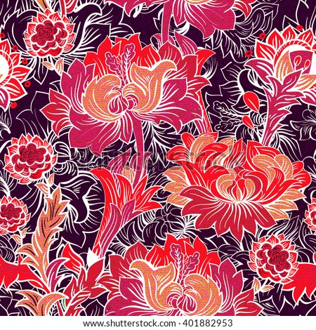 Vector seamless pattern for background, wrapping paper, wallpaper, textile, phone case, cover, web - stock vector