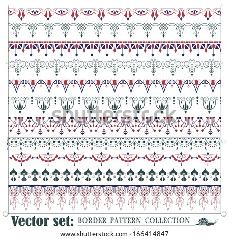 Vector seamless pattern for design, creating borders, frames and backgrounds  - stock vector