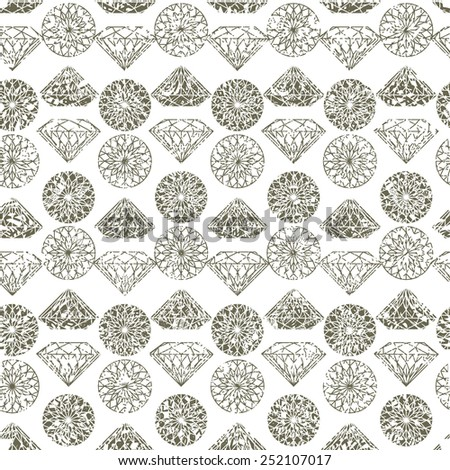 Vector seamless pattern from diamond design elements - stock vector