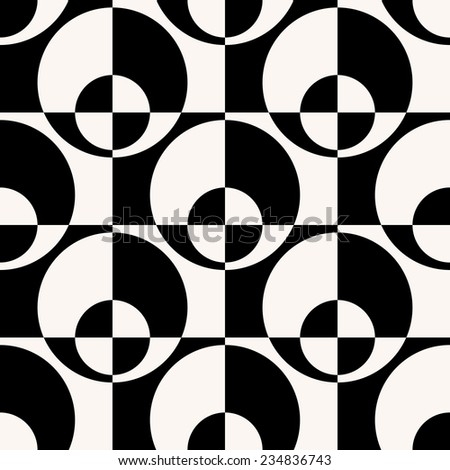 Vector Seamless Pattern. Geometric Circle Background - stock vector