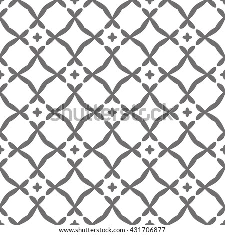 Vector seamless pattern. Geometric graphic design. Decorative background with striped. Minimalist simple ornament - stock vector