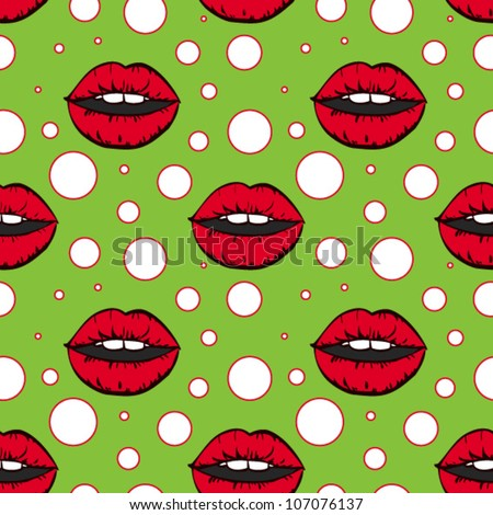 vector seamless pattern in pop art style - stock vector