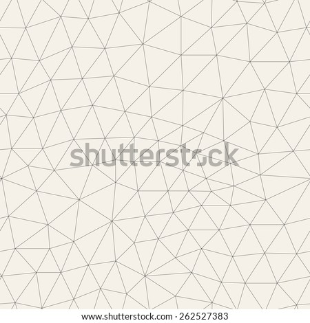 Vector seamless pattern. Irregular abstract linear grid. Graphical hand drawn background. Reticulated monochrome texture. Hipster modern print. Contemporary graphic design - stock vector