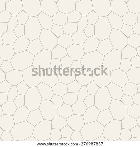 Vector seamless pattern. Irregular abstract thin grid background. Reticulated vector texture. Modern linear polygonal trellis. Trendy hipster graphic design. - stock vector