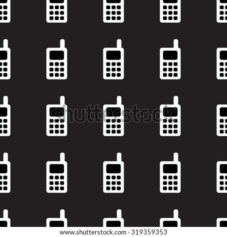 Vector seamless pattern made of telephones. - stock vector