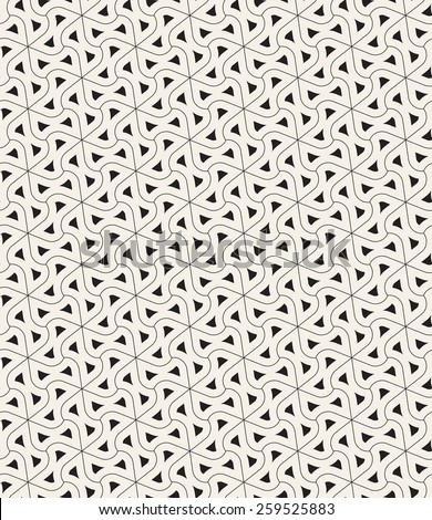 Vector seamless pattern. Modern geometric grid texture. Repeating abstract background with twisted triangular smooth elements. Contemporary graphic design. - stock vector
