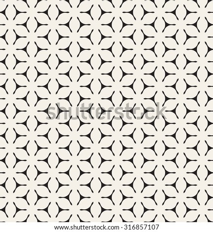Vector seamless pattern. Modern geometric monochrome texture. Repeating abstract background with triangular elements. - stock vector
