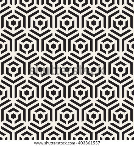 Vector seamless pattern. Modern geometric texture. Repeating abstract background. Polygonal linear grid with striped elements. - stock vector