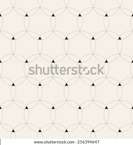 Vector seamless pattern. Modern geometric texture. Repeating abstract background with linear grid. Small triangular elements in nodes - stock vector