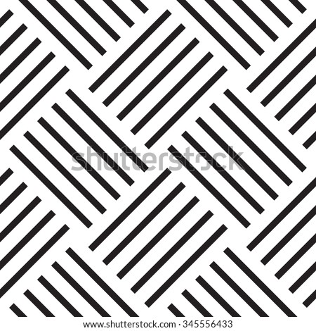 Vector seamless pattern. Modern geometric texture. Square linear grid, striped repeating abstract background - stock vector