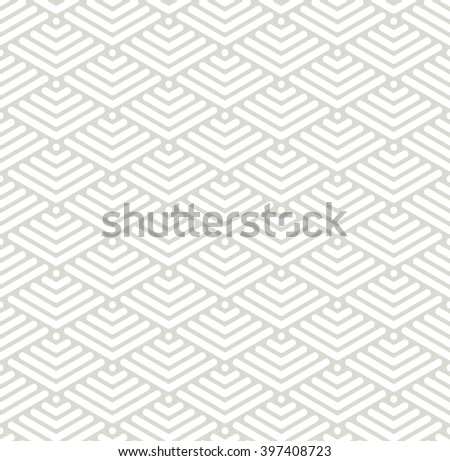 Vector seamless pattern. Modern stylish texture. Geometric ornament with striped rhombuses. - stock vector