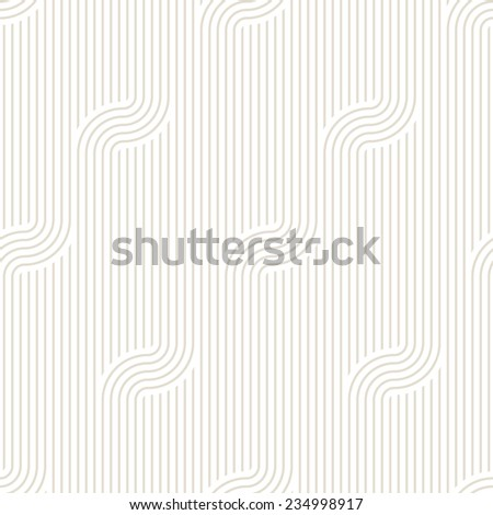 Vector seamless pattern. Modern stylish texture. Geometric striped ornament. Monochrome striped waves - stock vector
