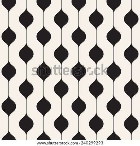 Vector seamless pattern. Modern stylish texture. Repeating abstract background. Regular vertical monochrome stripes with periodical nodes - stock vector
