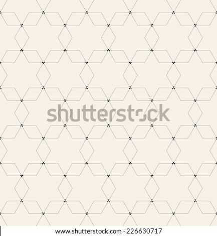 Vector seamless pattern. Modern stylish texture. Repeating geometric background. Elegant geometric backdrop - stock vector