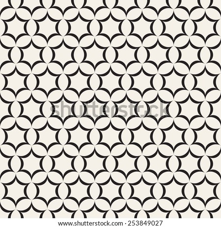 Vector seamless pattern. Modern stylish texture. Repeating geometric background with fine hexagonal grid. Stars form hexagons - stock vector