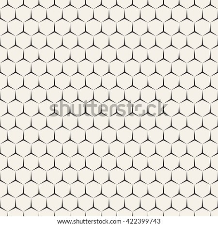 Vector seamless pattern. Modern stylish texture. Repeating geometric background with fine hexagonal grid. Minimalistic patterns with triangular stars. - stock vector