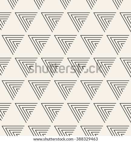 Vector seamless pattern. Modern stylish texture. Repeating geometric tiles from striped triangles. - stock vector