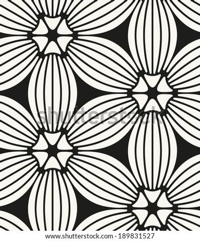 Vector seamless pattern. Modern stylish texture. Repeating geometric tiles. Geometric flowers - stock vector