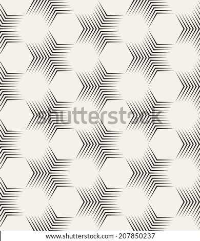 Vector seamless pattern. Modern stylish texture. Repeating geometric tiles. Ornate hexagons - stock vector