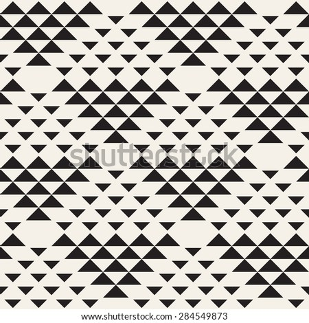 Vector seamless pattern. Modern stylish texture. Repeating geometric tiles. Simple composition from triangles. Hipster monochrome print. Trendy graphic design. - stock vector