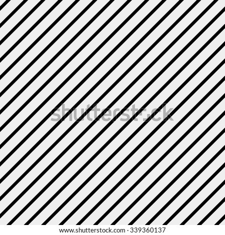 Vector seamless pattern. Modern stylish texture. Repeating geometric tiles with diagonal lines in monochrome - stock vector