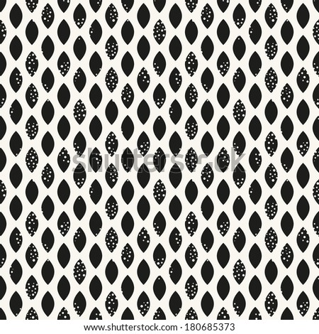 Vector seamless pattern. Modern stylish texture. Repeating geometric tiles with dotted rhombuses. Grunge grained texture - stock vector