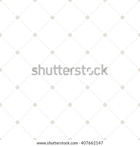 Vector seamless pattern. Modern stylish texture. Repeating geometric tiles with dotted rhombuses. Simple minimalistic backdrop. Neutral universal geometric ornament. - stock vector