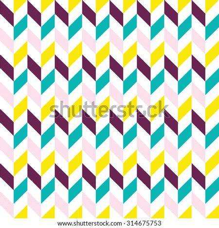 Vector seamless pattern. Modern stylish texture. Repeating geometric tiles with herringbones. - stock vector