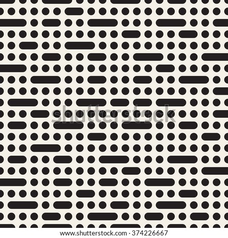 Vector seamless pattern. Modern stylish texture. Repeating geometric tiles with modular elements. - stock vector