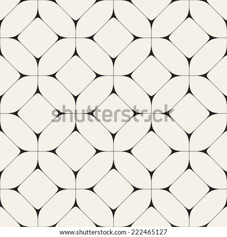 Vector seamless pattern. Modern stylish texture. Repeating geometric tiles with octagons and rhombuses - stock vector