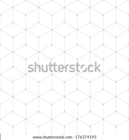 Vector seamless pattern. Modern stylish texture. Repeating geometric tiles with rhombuses - stock vector