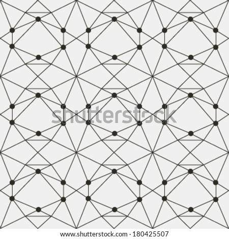 Vector seamless pattern. Modern stylish texture. Repeating geometric tiles with smooth grid - stock vector
