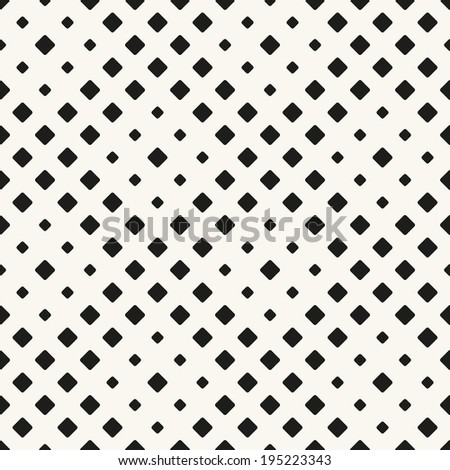 Vector seamless pattern. Modern stylish texture. Repeating geometric tiles with smooth rhombuses - stock vector
