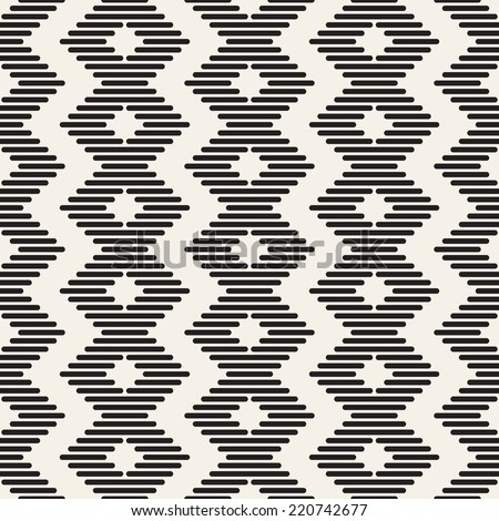 Vector seamless pattern. Modern stylish texture. Repeating geometric tiles with zigzag - stock vector