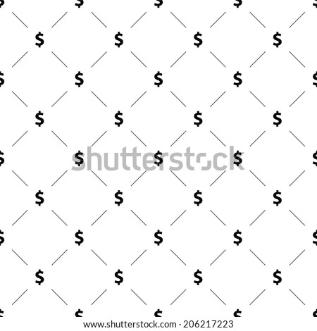 Vector seamless pattern, money, Editable can be used for web page backgrounds, pattern fills  - stock vector