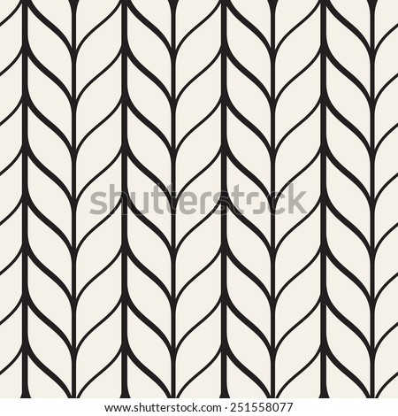 Vector seamless pattern. Monochrome regular stylish grid. Smooth regular trellis - stock vector